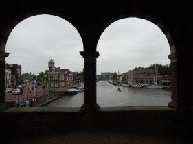 View from the Waterpoort in Sneek
