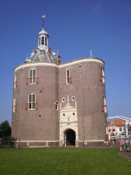 The Drommedaris in Enkhuizen (1540) is used today as a cultural center