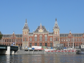 The Central Station in Amsterdam