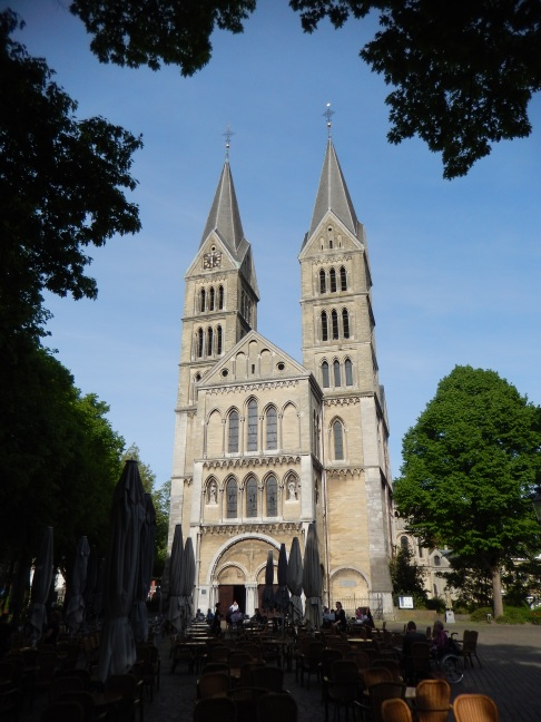 The Munsterkerk in Roermond after restoration (notice the two large towers)